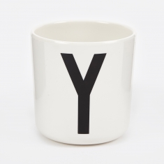 Design Letters Melamine Cup - Y