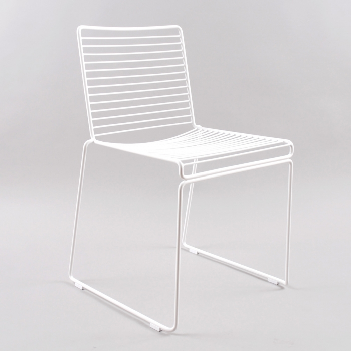 Hay Hee Dining Chair - White/ White Gliders