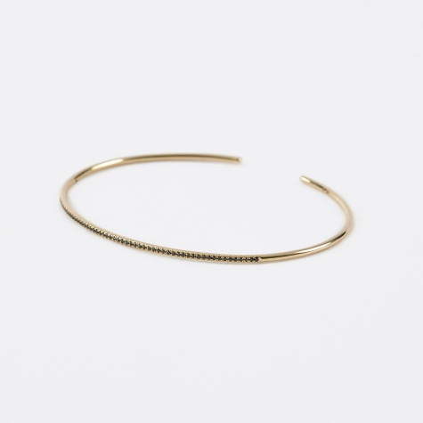 Pave Black Diamond Cuff - Yellow Gold/Black