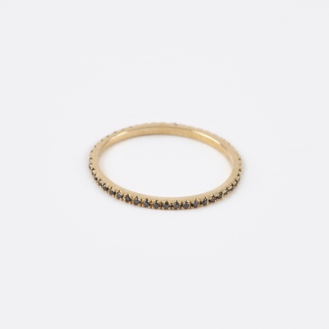 Axis Band Ring - 14K Gold/Black Diamonds