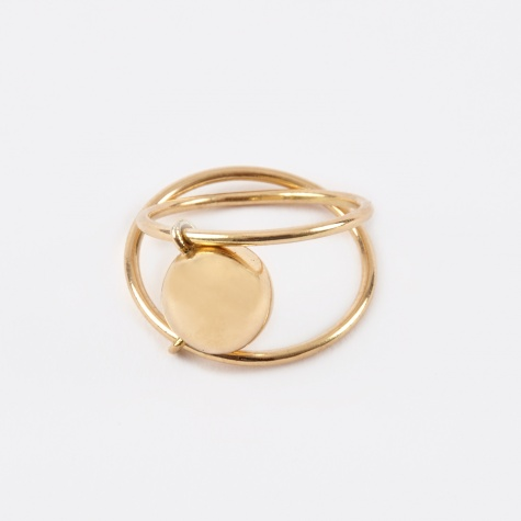 Ball Double Slide Ring - 18K Gold