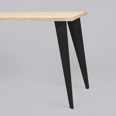 Petites Production Pair Table Legs - Black