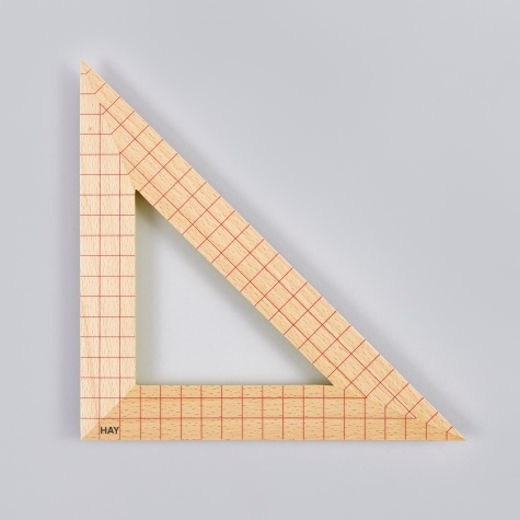 Wooden Ruler Triangle 2 - Beech