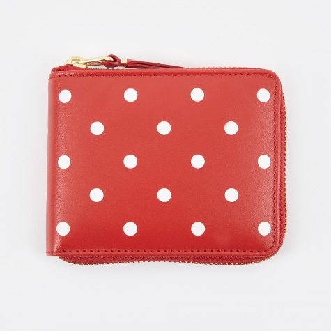 Comme Des Garcons Wallet Polka Dot W (SA7500PD) - Red