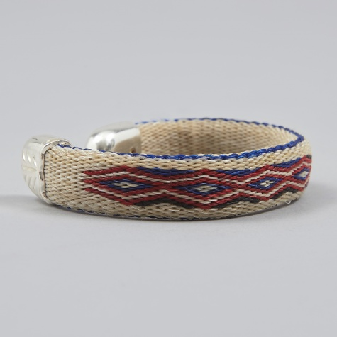 Bendable H.H.H Bracelet - Ivory, Blue & Red