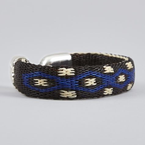 Bendable H.H.H Bracelet - Black, Blue & Ivory