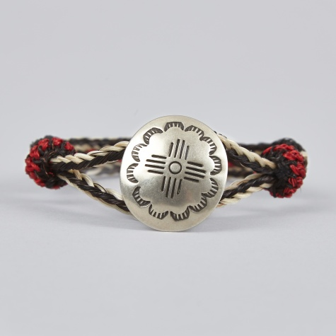 Concho Bracelet - Black, Red & Ivory