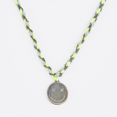 Have a Nice Day Necklace - Lemon/Light Blue/Char
