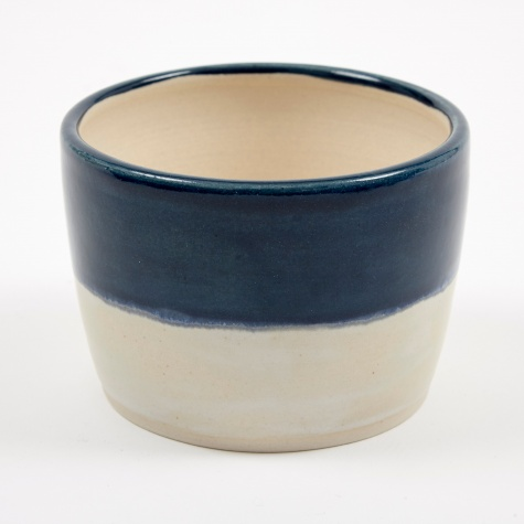 Blue & Ivory Pot - Small