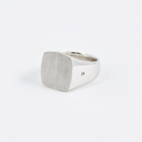 Satin Cushion Ring - Silver