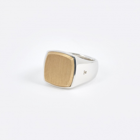 Cushion Ring - Gold Top