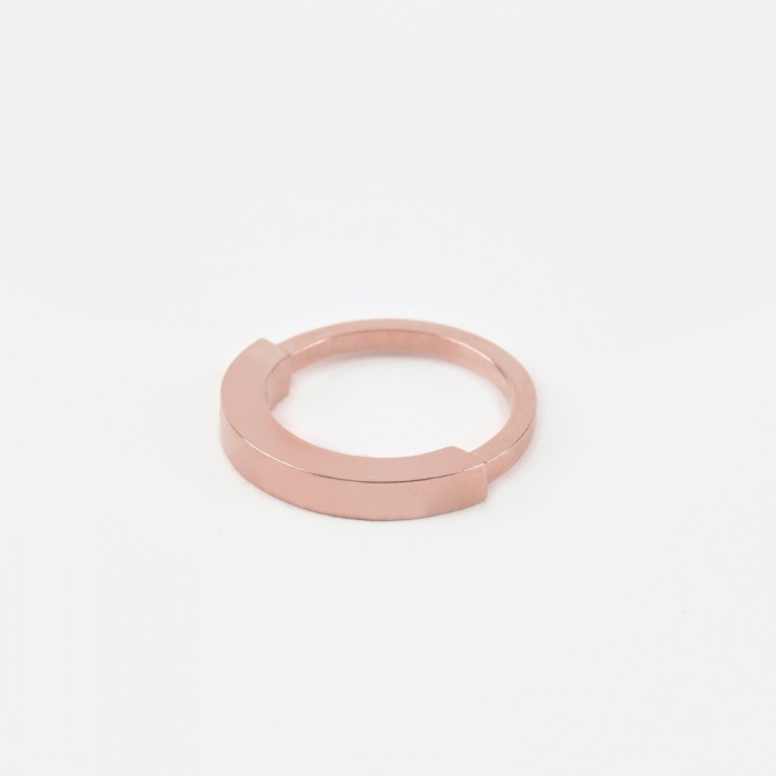 The Boyscouts Round Aeon Ring - Rose Gold (Image 1)