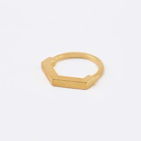 Hexagon Aeon Ring - Gold