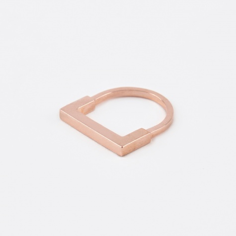 Square Aeon Ring - Rose Gold