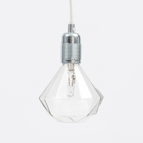 Steel Light Fitting With White Cord