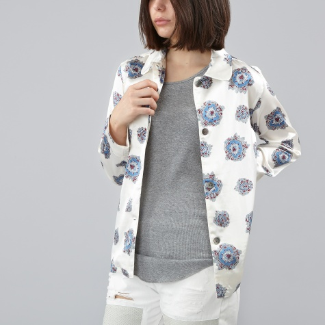 Pattern Jacket - White