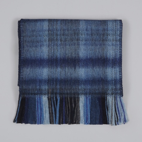 Brushed Scarf - Blue Plaid