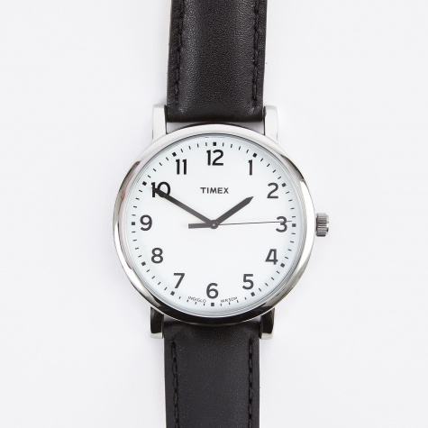 Original Classic Round Watch - White Face/Black Strap