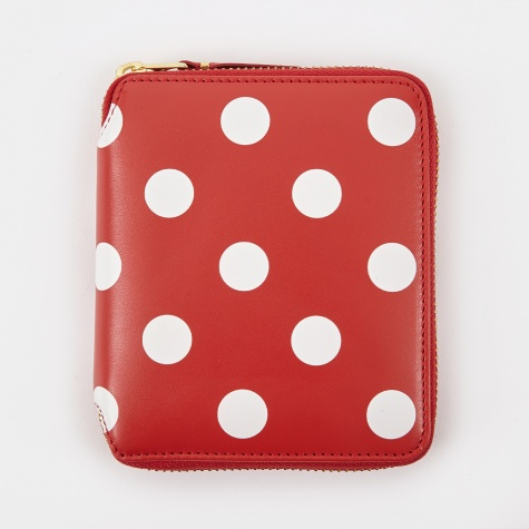Comme Des Garcons Wallet Polka Dot Print M (SA2100PD) - Red