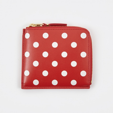 Comme Des Garcons Wallet Polka Dot Print S (SA3100PD) - Red