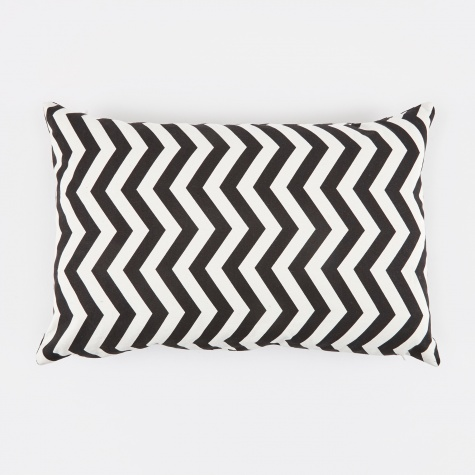 Black Zig Zag Cushion - Black/White