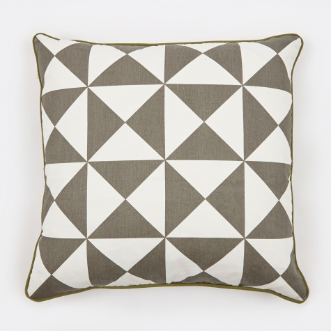 Cushion Large Geometry - Grey