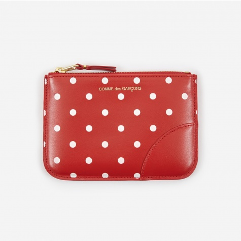 Comme Des Garcons Wallet Polka Dot (SA8100PD) - Red