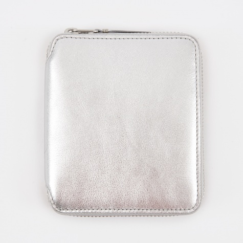 Comme des Garcons Wallet Classic Leather M (SA2100G) - Silver