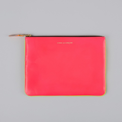 Comme des Garcons Wallet Super Fluo W (SA5100SF) - Pink/Yellow