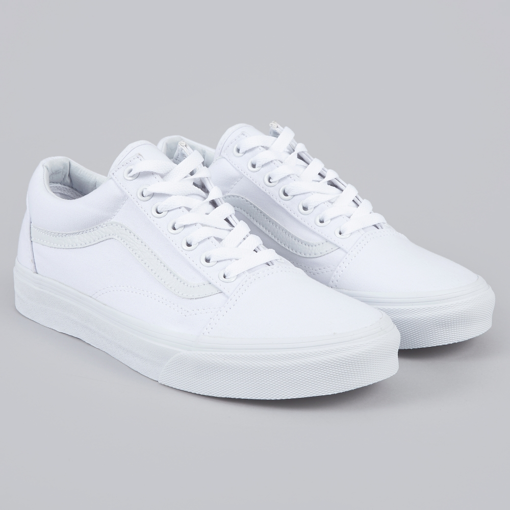 vans old skool true white aj. Black Bedroom Furniture Sets. Home Design Ideas