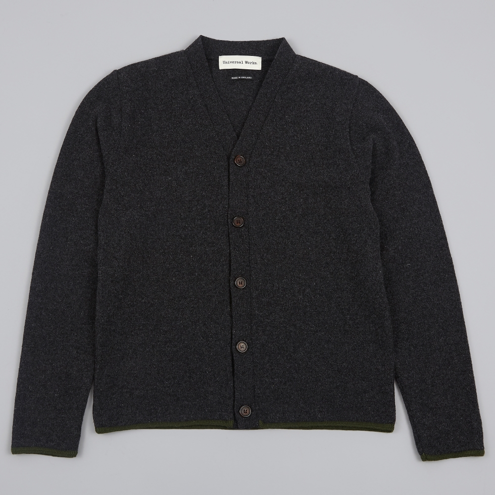 Universal Works Soft Wool Cardigan - Charcoal