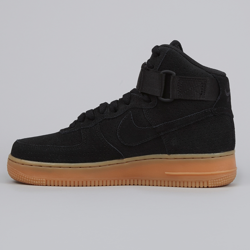 Nike Air Force Black Suede