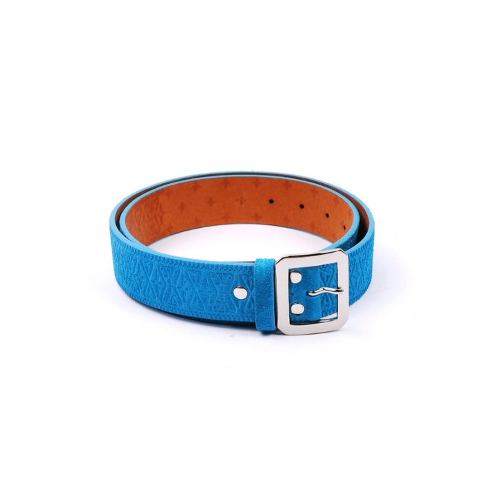 Unrivaled 'B.P. Suede' Belt - Blue (Image 1)