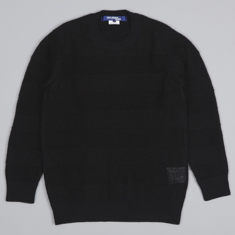 Mohair Garter Stitch Knit - Black