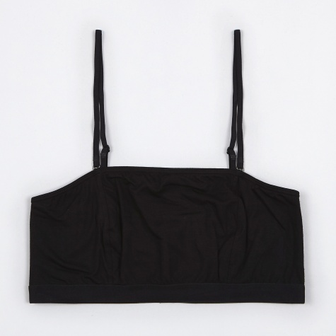 Base Range Tube Bra With Fine Strap - Black