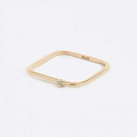 Square Diamond Ring - 10K Gold