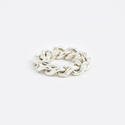 Thick Chain Ring - Silver