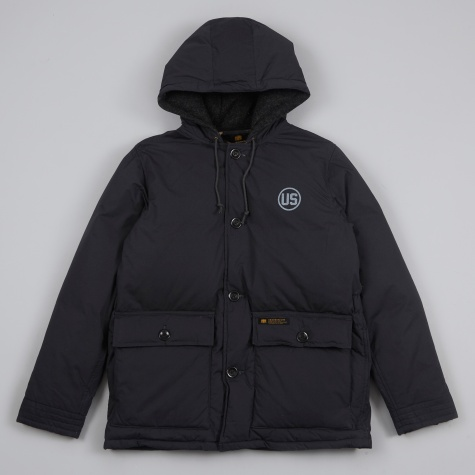 Military Down Jacket - Black