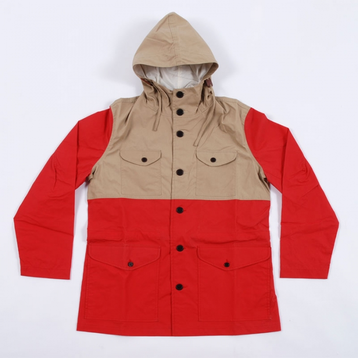 Universal Works Fell Jacket - Red Wax Cotton (Image 1)