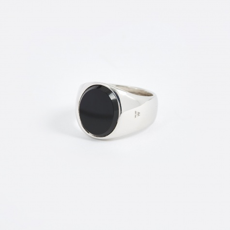 Oval Ring - Polished Black Onyx