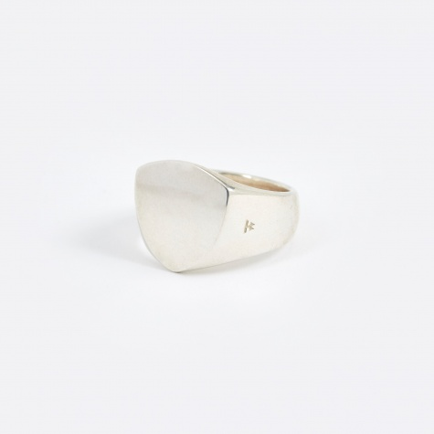 Polished Shield Ring - Silver