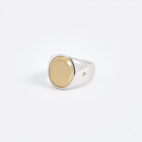 Oval Ring - Gold Top