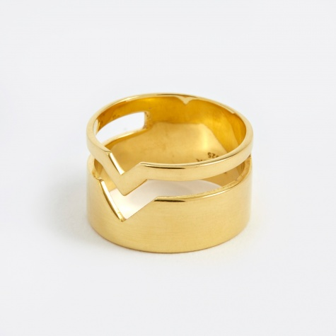 Fooled Heart Ring - Polished Gold 14K