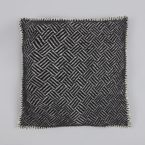 Samba Cushion Cover - Black