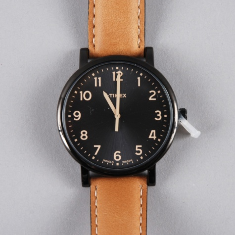 Original Classic Round - Black Face/Tan Strap
