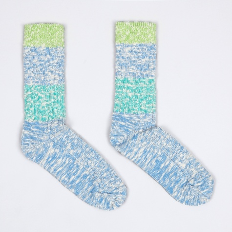 Capri Stripe Socks - Blue