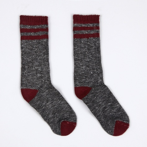 Pine Lodge Socks - Charcoal/Burgundy