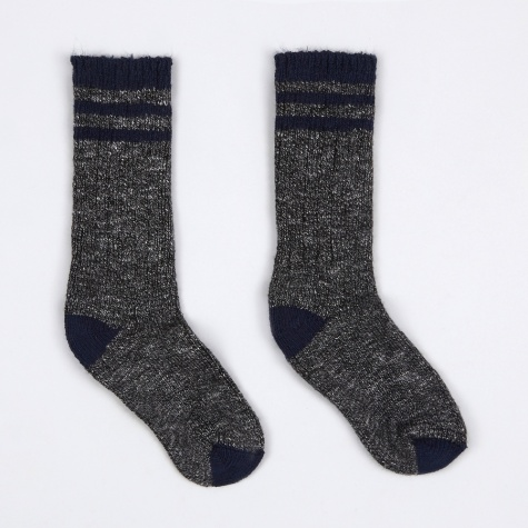 Pine Lodge Socks - Charcoal/Navy