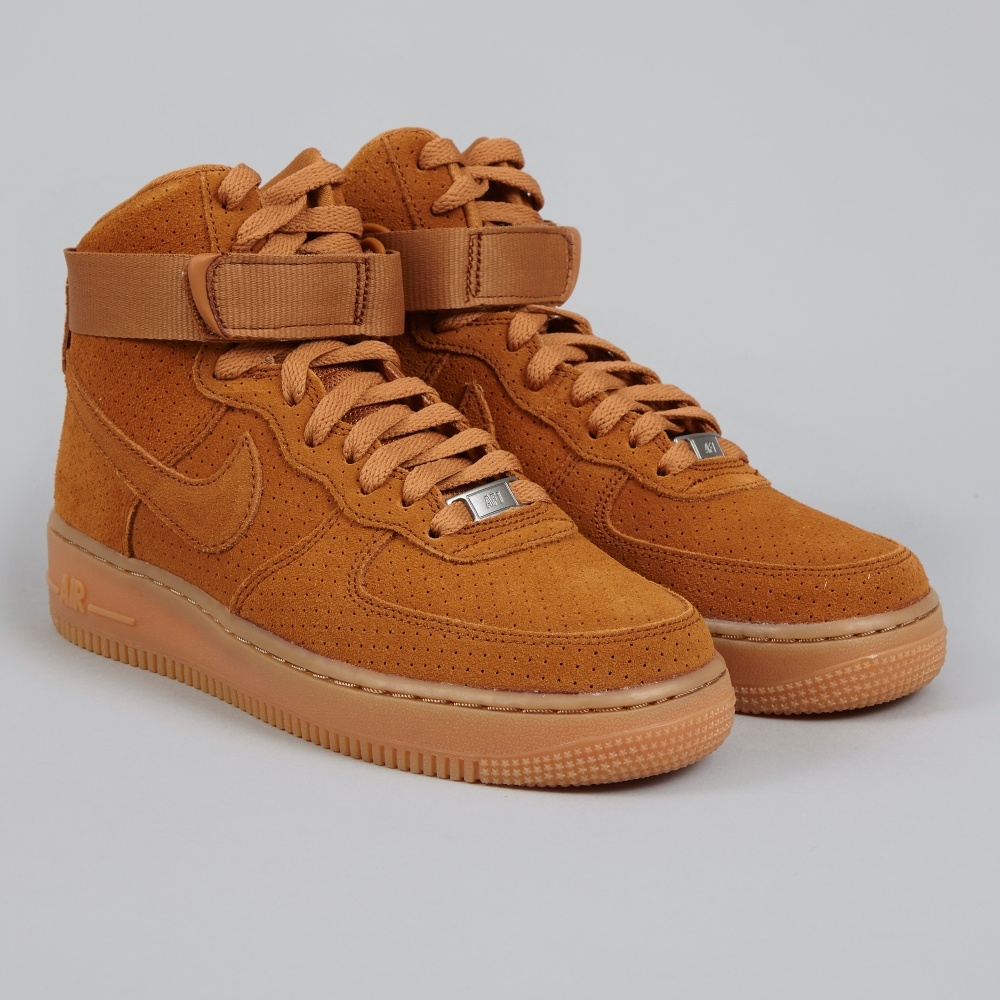 nike air force 1 39 07 high suede tawny tawny. Black Bedroom Furniture Sets. Home Design Ideas