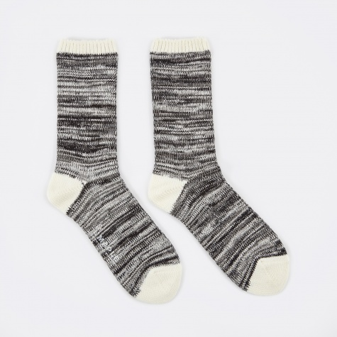 Hikisoroe Melange Sock - Black